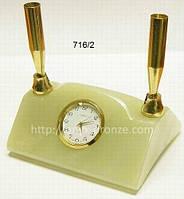 Часы офисные оникс на две ручки