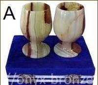 Набор 2 изящных бокала для вина оникс
