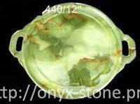 Поднос из натурального камня  оникса
