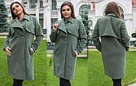"""Стильное женское пальто демисезон в больших размерах 321-1 """"Кашемир Макентош Барберри"""" в расцветках"""