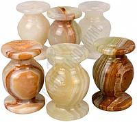 Подсвечник для церковной свечи из натуральные камни оникса
