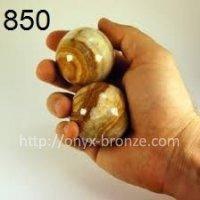 Шар из натурального камня оникс  Размеры 3.75 cm