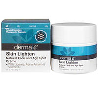 Derma E, Осветление кожи, крем от естественного увядания и возрастных пятен, 56 г