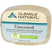 Clearly Natural, Натуральное глицериновое мыло без запаха , 4 унции ( 113 г )