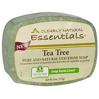 Clearly Natural, Основа, натуральное чистое глицериновое мыло, чайное дерево, 113 г (4 унции)