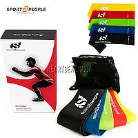 Набор ленточных эспандеров Sport2People Mini Bands (5 шт, сумочка для хранения)