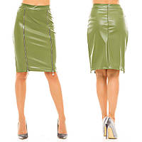 """Женская стильная юбка средней длины 247 """"Кожа Миди Змейки"""" в расцветках"""