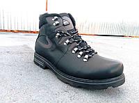 Чоловічі шкіряні зимові черевики великих розмірів 46-50 р-р, фото 1