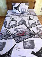 Полуторный детский комплект постельного белья Париж