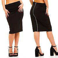 """Женская стильная юбка в больших размерах 5022 """"Отто Миди Змейка"""" в расцветках"""