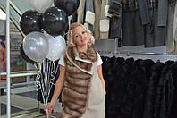 Эксклюзивное пальто с куницей шерсть альпаки, фото 1
