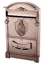 Поштова скринька Vita колір коричневий Діва Марія