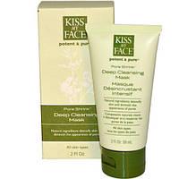 Kiss My Face, Сильнодействующая, натуральная маска, Сужает поры, Интенсивно очищающая маска, 2 жидких унции (59 мл)