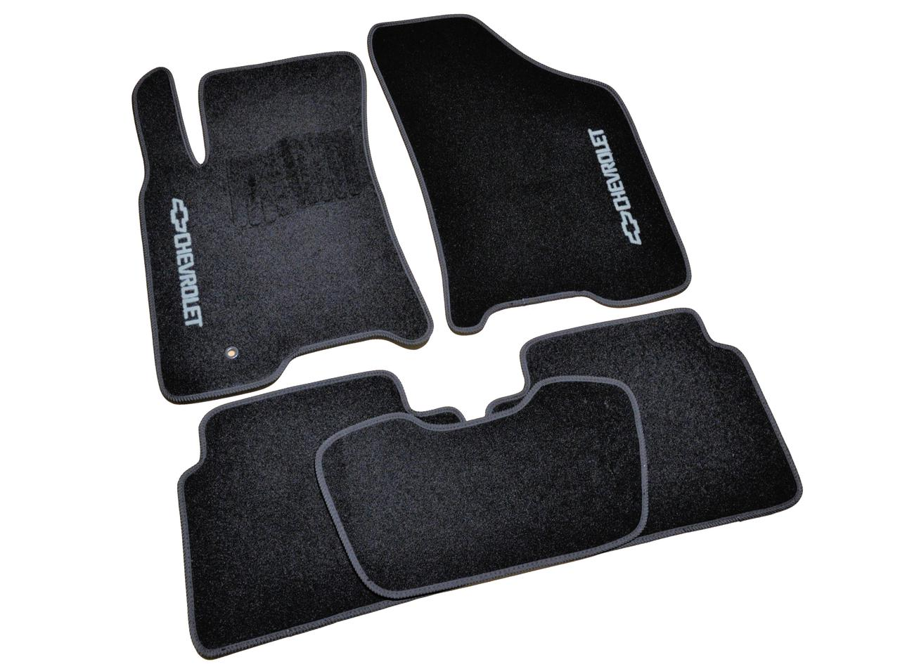 Коврики в салон ворсовые AVTM для Chevrolet Lacetti (2002-) /Чёрные, кт 5шт BLCCR1085