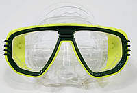 Маска для снорклинга IST Corona; прозрачно-жёлтая