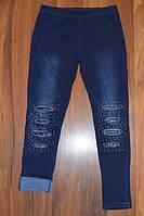 Зимние джинсы и лосины для девочек