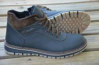Мужские кожаные ботинки Columbia 12206 черные