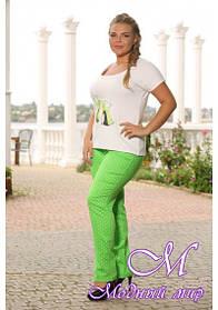 Женские цветные брюки большого размера (р. 48-90) арт. Яна