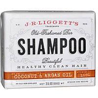 J.R. Liggetts, Традиционный шампунь-мыло, с кокосом и аргановым маслом, 3.5 унций (99 г)