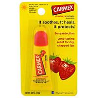 Carmex, Бальзам для губ, клубника, фактор защиты от солнца 15, 0,35 унции (10 г)