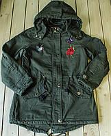 Куртка -парка демисезон  на девочку рост 134-164 см