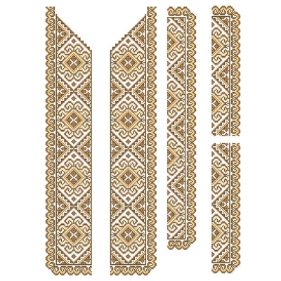 Заготовка на рубашку мужскую СЧ-09. 3 КОЛЬОРИ (КОРИЧНЕВА)  продажа ... d8aeb7ed03d62