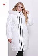 Зимнее пальто-пуховик  м-200, белый (р.50-66)