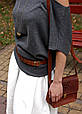 Ремень женский кожаный длина регулируется звеньями. Цвет коньяк, фото 8