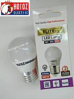 Светодиодная лампа шар 6W 3000K E27 Elite-6 Horoz Electric