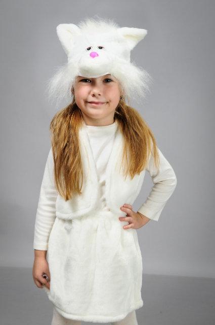 Детский карнавальный костюм Кошечка мех
