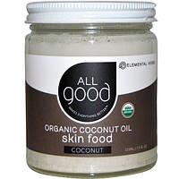 All Good Products, Органическое кокосовое масло, питание кожи, кокос, 7.5 ж.унций (222 мл)
