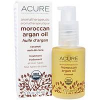 Acure Organics, Марокканское аргановое масло для ароматерапии, кокосовое, 1 жидкая унция (30 мл)