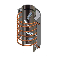 Теплообменник для нагрева воды со змеевиком для каминов