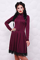 Приталенное платье с расклешенной юбкой p-4703123