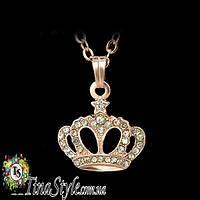Подвеска кулон Корона Crown позолота 18К ретро Новинка Супер цена