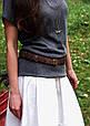 Ремень женский кожаный Орех, фото 7