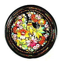 Конфетница деревянная Петриковская роспись ручной работы 235мм 9829