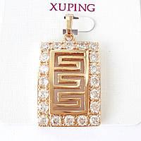 Кулон позолота xuping подвеска с цирконием  3.5см 187