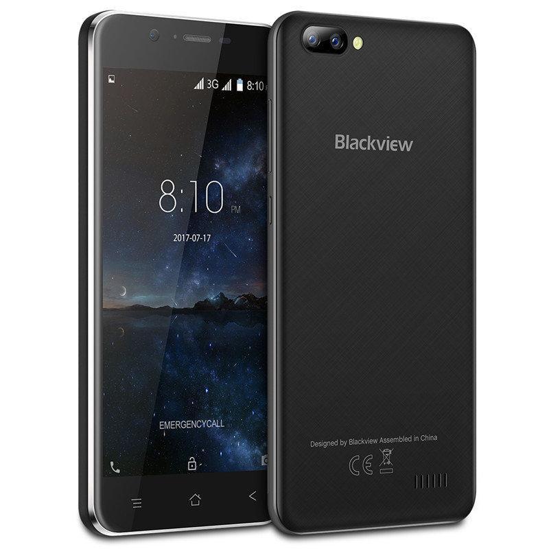 """Смартфон Blackview A7 1/8Gb Black, 4 ядра, 5/2 Мп, 5"""" IPS, 2 SIM, 2800 мАч"""