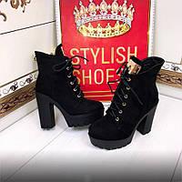 Демисезонные ботинки женские на каблуке 40р