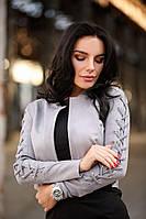 Короткий замшевый женский пиджак