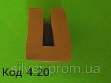 П-образный силиконовый профиль под 4мм
