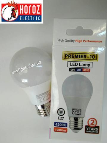 Led лампа 10W E27 4200K Horoz Electric HL 4310L Premier-10