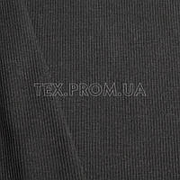 Трикотажное полотно кашкорсе хлопок/эластан пенье 30/2, черный