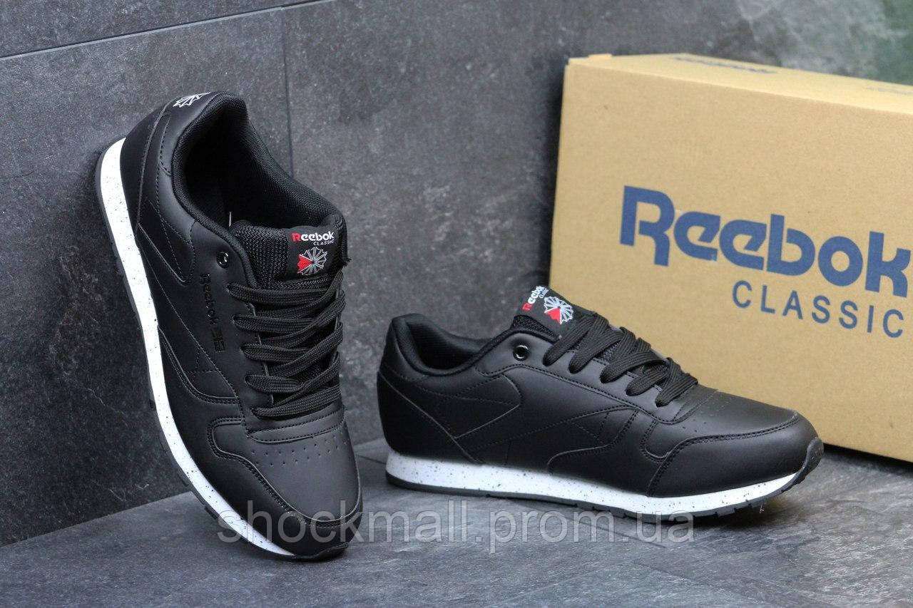 4717a68cc888 Кожаные кроссовки Reebok черные мужские Вьетнам - Интернет магазин  ShockMall в Киеве
