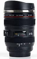 Термокружка в виде объектива Canon 24-105M c миксером