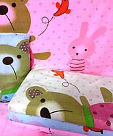 """Полотенце банное из микрофибры """"Мишки на лужайке"""""""