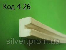 П-образный уплотнитель из силиконовой резины под 2мм