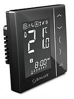 Черный встраиваемый проводной термостат SALUS VS10W