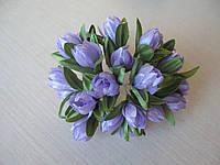 Тюльпаны из ткани сиреневые  2 см
